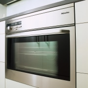 close up of oven - close up of home appliance, kitchen appliance, kitchen stove, major appliance, microwave oven, oven, gray, white