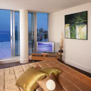 Interior view of bedroom - Interior view of apartment, condominium, estate, interior design, living room, penthouse apartment, property, real estate, room, window, gray