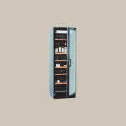 View of a cooling cabinet - View of multimedia, product, product design, telephony, gray