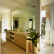 Interior view of bathroom - Interior view of countertop, floor, interior design, room, brown, orange