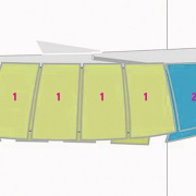 Floor plan showing different exhibition halls and rooms. design, line, product, product design, white