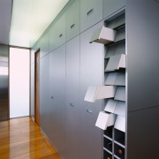 view of ktichencupboard system - view of ktichencupboard architecture, ceiling, daylighting, glass, interior design, shelf, wall, gray