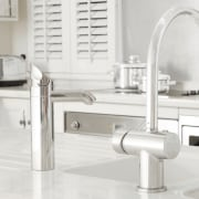 view of the stainless tapware and sink - bathroom sink, plumbing fixture, product design, sink, tap, white