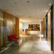 View of the reception area, cream tiled floor, ceiling, floor, flooring, interior design, lobby, wall, brown, gray