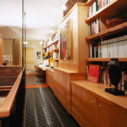 View of the wooden in-built cabinetry in th furniture, interior design, brown