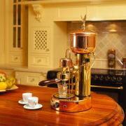 view of n elecktra coffee machine - view countertop, interior design, kitchen, small appliance, orange, brown