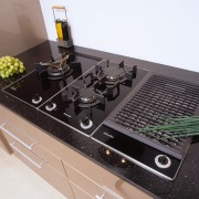 view of this combiset hob unit miele - black, gray