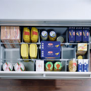 view of the universal drawer organiser that can furniture, product, refrigerator, shelf, shelving, gray, white