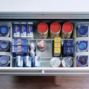 view of the universal drawer organiser that can electronics, product, gray, white