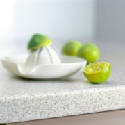 view of the square form laminex benchtop - bowl, dishware, lime, material, platter, product design, still life photography, tableware, white
