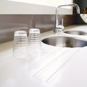 view of the new laminex freestyle benchtop - bathroom sink, plumbing fixture, product design, sink, tap, white