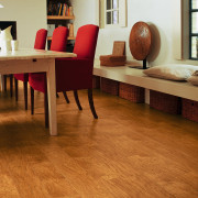 View of the dining area, wooden flooring, cream chair, floor, flooring, furniture, hardwood, interior design, laminate flooring, living room, table, tile, wood, wood flooring, wood stain, brown