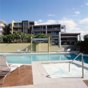view of the recreation pool area - view apartment, condominium, estate, home, hotel, house, property, real estate, residential area, resort, swimming pool, villa, white