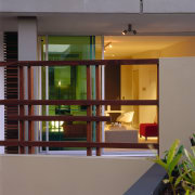 view from the street looking into the aprtmennt architecture, door, glass, home, house, interior design, window, gray