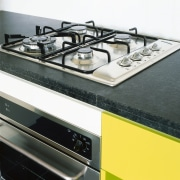 view of the bianco kitchen appliances - view gas stove, home appliance, kitchen stove, white, black