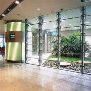view of the xt operable glass louvres - door, floor, flooring, glass, lobby, structure, white