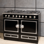 view of this custom design oven called the furniture, gas stove, home appliance, kitchen appliance, kitchen stove, major appliance, black, gray