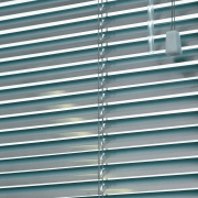 view of the uniline slimline venetian blinds - architecture, daylighting, facade, line, mesh, metal, steel, window, window blind, window covering, gray, teal