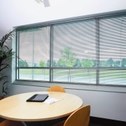 view of the uniline slimline venetian blinds - architecture, daylighting, glass, interior design, real estate, shade, window, window blind, window covering, window treatment, white