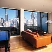 view of apartment showing floor to ceiling  apartment, ceiling, condominium, interior design, living room, penthouse apartment, property, real estate, room, window, black