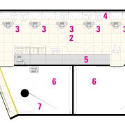 Legend plan of the showrrom. - Legend plan angle, area, design, diagram, line, text, white