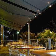 view of the markilux awnings - view of architecture, lighting, night, reflection, structure, brown, black