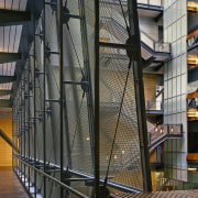 A close up view of the metal walls architecture, building, facade, glass, iron, structure, tourist attraction, black, gray