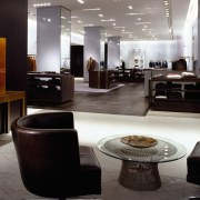 view of the leather club chairs , redwood furniture, interior design, living room, table, black, gray