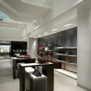 view of the department store with a modern interior design, kitchen, retail, gray