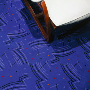 view of deep blue patterned carpet - view angle, area, blue, cobalt blue, design, electric blue, floor, light, line, pattern, purple, space, blue