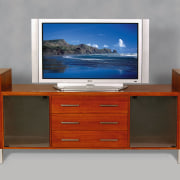 view of the multifunctional wood tv storage cabinet chest of drawers, drawer, furniture, product, product design, sideboard, gray