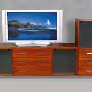 view of the multifunctional wood tv storage cabinet chest of drawers, furniture, product, product design, sideboard, gray