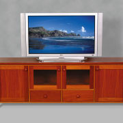 view of the multifunctional wood tv storage cabinet desk, display device, furniture, multimedia, product design, table, gray