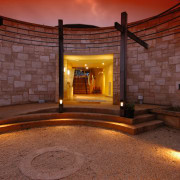 vire of the entrance tp hollick winery  light, lighting, lobby, red