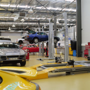 view of the servie area - view of automobile repair shop, automotive design, car, factory, motor vehicle, vehicle, gray