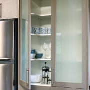 An example of an afoordable new kitchen from bathroom accessory, cabinetry, home appliance, interior design, kitchen, gray