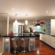 A kitchen designed by the winner of the cabinetry, ceiling, countertop, cuisine classique, interior design, kitchen, real estate, room, gray, brown