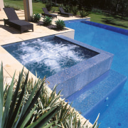 view of the spa pool  above the backyard, leisure, swimming pool, water, water feature