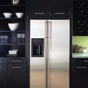 An example of attractive and practical fridges and cabinetry, countertop, home appliance, kitchen, kitchen appliance, major appliance, product, product design, refrigerator, black