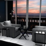 view of the relaxing area, with usoe of chair, furniture, home, interior design, room, window, black, gray