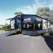 view of the 9m long phillips mpbile truck car, transport, vehicle, gray