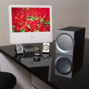 view of the companion  3 multimedia speaker electronics, furniture, loudspeaker, multimedia, product design, gray, black