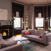 The homes remodled lounge and living area. - couch, furniture, home, interior design, living room, room, black