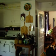 A view of the kitchen prior to the furniture, home, house, interior design, kitchen, room, brown