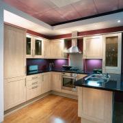 An example of the displays within Harvey Norman cabinetry, countertop, cuisine classique, floor, hardwood, interior design, kitchen, room, wood flooring