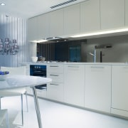 A view of a kitchen with some Omega cabinetry, countertop, interior design, kitchen, product design, room, gray