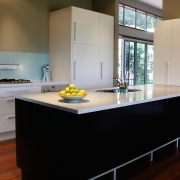 Examples of kitchens designed by Simply Kitchens to architecture, cabinetry, countertop, cuisine classique, floor, flooring, hardwood, house, interior design, kitchen, room, wood, wood flooring, black, gray