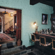 view of the speakeasy - bar that updated home, interior design, property, room, wall, black, gray
