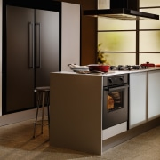 Examples of the new Fisher & Paykel technology cabinetry, countertop, home appliance, interior design, kitchen, brown, gray