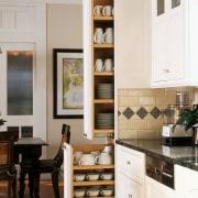 view of the kitchen where the cabinetry provides cabinetry, countertop, cuisine classique, furniture, interior design, kitchen, white